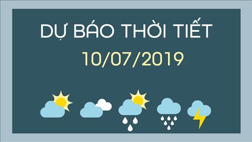 Dự báo thời tiết 10/7: Trung Bộ nắng nóng gay gắt, Bắc Bộ rải rác mưa dông