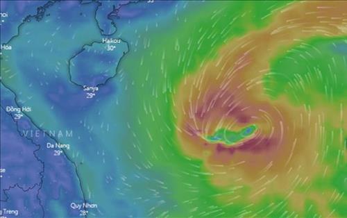 Trưa mai (30/8), Bão số 4 sẽ đổ bộ vào các tỉnh Nghệ An - Quảng Bình với sức gió giật cấp 10 -11