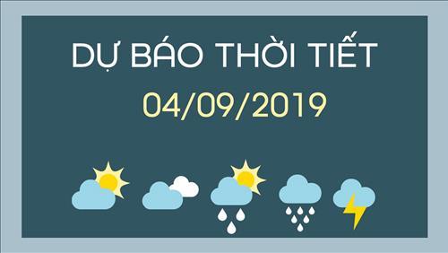 Dự báo thời tiết 4/9: Áp thấp nhiệt đới gây mưa lớn tại miền Trung và Tây Nguyên