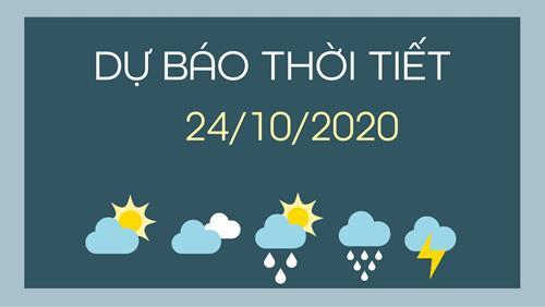 Dự báo thời tiết 24/10/2020: Trung Bộ ngừng mưa, trời nắng ráo trở lại
