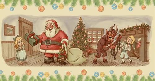 Krampus la mat toi cua ong gia Noel