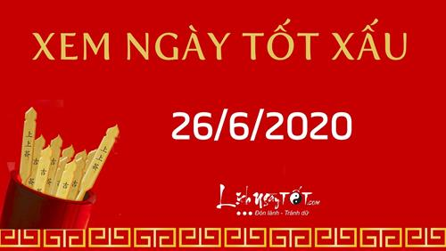 Xem ngày tốt xấu 26/6/2020 - Âm lịch hôm nay 6/5 âm lịch, ngày Sơ độc thứ 2