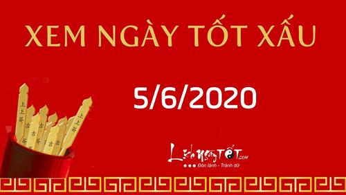 Xem ngày tốt xấu hôm nay 5/6/2020 - Lịch âm 14/4 nhuận năm Canh Tý