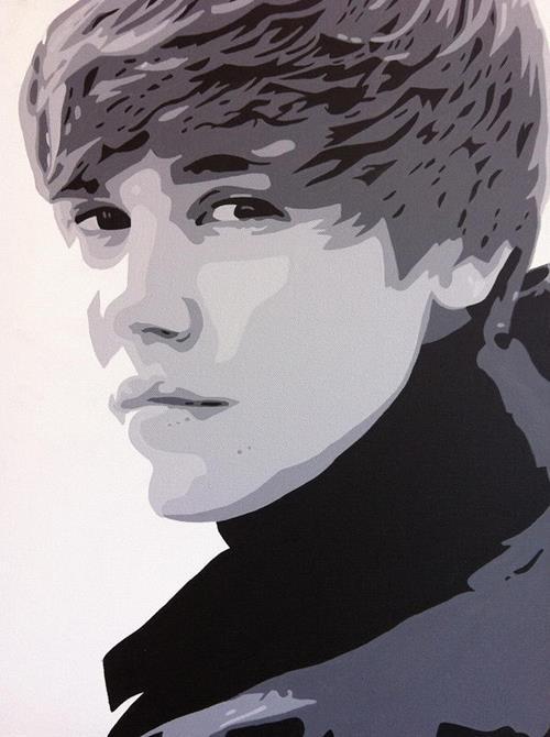 ca si Justin Bieber va tuoi tho khon kho