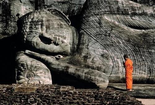 Phật đá đền Gal Viharaya ở Sri Lanka
