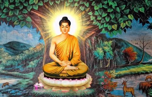 Đức Phật thành đạo dưới cội cây bồ đề