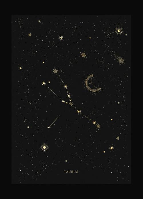 Hình dạng chòm sao Kim Ngưu