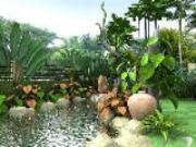 Cách dùng đá cân bằng âm dương phong thủy sân vườn