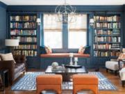 Phối màu phòng đọc sách theo phong thủy đẹp mà hay