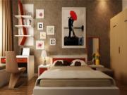Tranh đẹp cảnh, đẹp cả phong thủy cho phòng ngủ