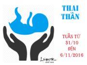 Xem ngày tốt xấu đón lành tránh dữ cho thai phụ: Tuần từ 31/10-6/11/2016