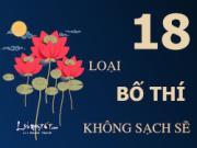 Infographic: 18 loại bố thí không sạch sẽ làm xấu chân lý nhà Phật